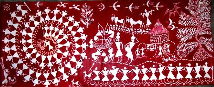 Warli by Maneesh  Kumar