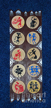 Warli tribe Wood Home Decor by Subhash Limaye