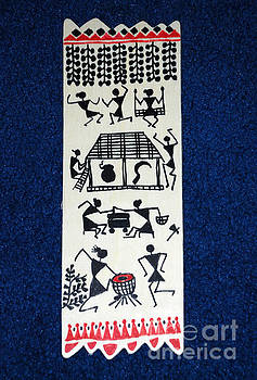 Warli wooden home decor by Subhash Limaye