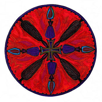 Warrior Mandala by Robens Napolitan Tom Kramer