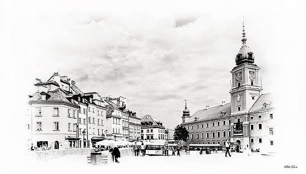 Warsaw's Castle Square by Viktor Korostynski
