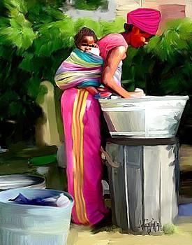 Washing Day by Laura Fatta