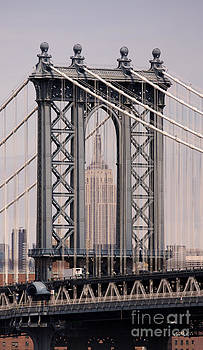 Washington Bridge and Empire State Building by Holger Ostwald