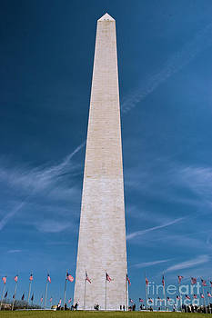 Tim Mulina - Washington Monument and flags