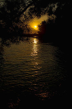 Water-Sunset by Ray Keeling