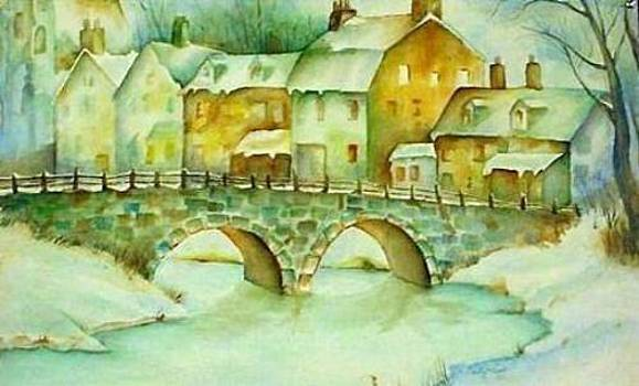 Watercolor Bridge by Cristy Crites