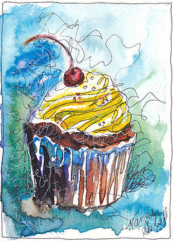 Watercolor Cupcake 4 by Michele Hollister - for Nancy Asbell