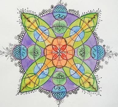 Watercolor Mandala 1 by Andrea Thompson
