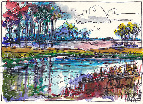 Watercolor Marsh 2 by Michele Hollister - for Nancy Asbell