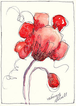 watercolor Poppy by Michele Hollister - for Nancy Asbell