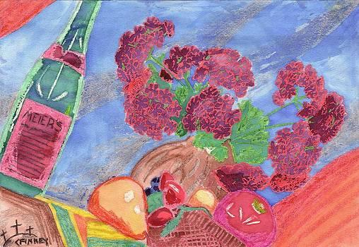 Watercolor Resist Still Life by Corey Finney