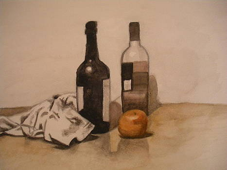 Watercolor Still Life by Jeremiah Cook