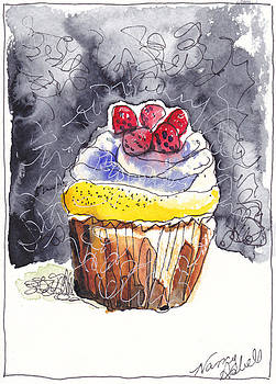 Watercolr Cupecake 3 by Michele Hollister - for Nancy Asbell