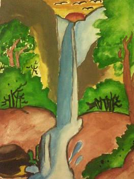 Waterfall by Amisha Tripathy