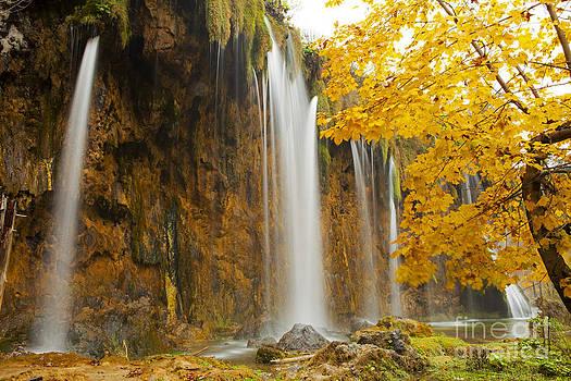 Waterfall in Plitvice by Bela Torok