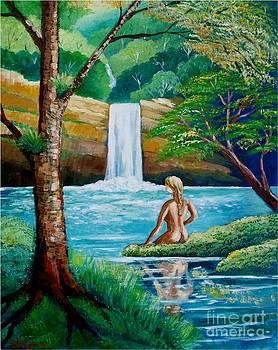 Waterfall nymph by Jean Pierre Bergoeing