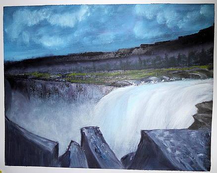 Waterfall by Ramakant Varma