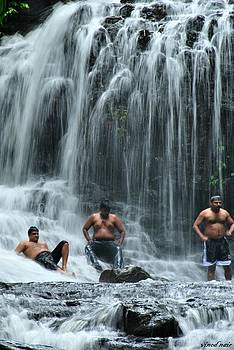 Waterfall  by Vinod Nair