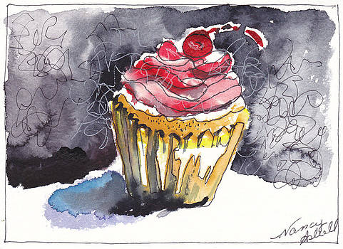 Waterfcolor Cupcake 7 by Michele Hollister - for Nancy Asbell