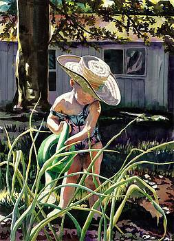 Watering the Onions by Maureen Dean