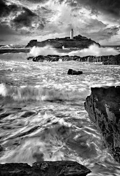 Waves at Godrevy by Paul Davis