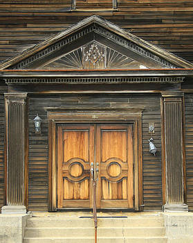 Weathered Masonic Lodge Entrance by Roger Soule