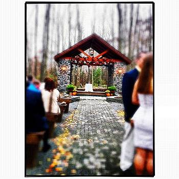 Wedding In The Pocono Mountains by Mark Diefenderfer