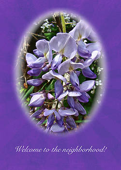 Mother Nature - Welcome to the Neighborhood Greeting Card - Wisteria