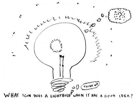 What Do Lightbulbs Think Of Cartoon by Yasha Harari