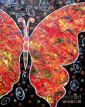 Whimsical Painting-Butterfly by Priyanka Rastogi