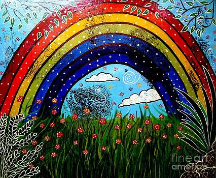 Whimsical Painting-Whimsical Rainbow by Priyanka Rastogi