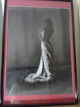 White charcoal study by Dalene Turner