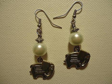 White Elephant Earrings by Jenna Green