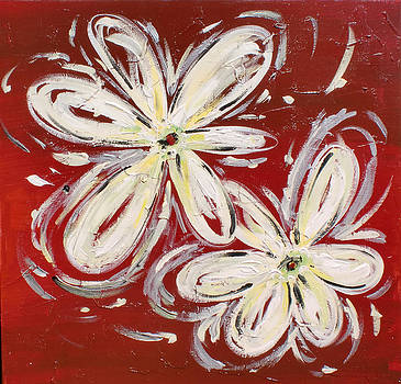White Flowers by Karolina Olszewska