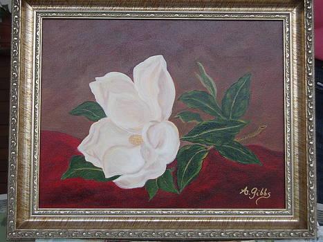 White Magnolia by Arlene Gibbs