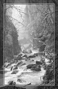 White Mare Waterfall Loch Leven Scotland by George Hodlin
