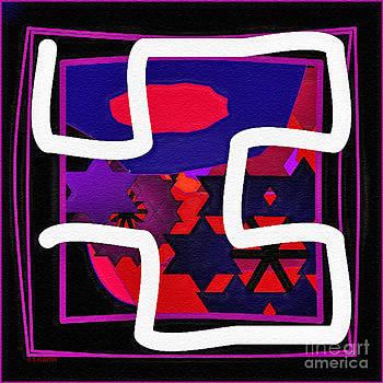 Dee Flouton - White Maze on Black