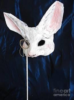 White Rabbit Fairytale Mask by Julia Cellini Cellini