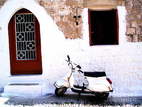 White Scooter Dreams Horizontal by Anthony Novembre