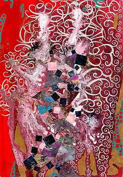 White Stain on Strawberry Red by Lynda Stevens