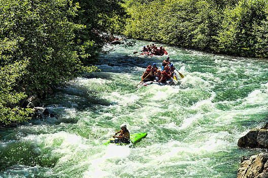 White Water Rafting on the Green River Whistler Canada by Frank Feliciano