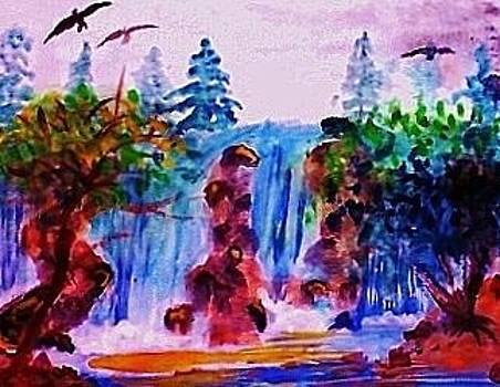 Wild waterfalls by Anna Lewis