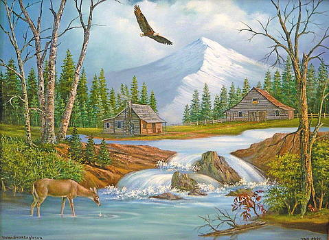 Wilderness Retreat in the Mountains by Vivian Eagleson