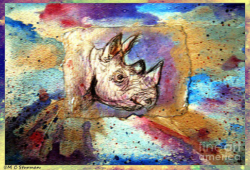 Wildlfe Art Rhino by M c Sturman