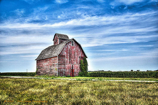 Wind Blown Barn by Dan Crosby
