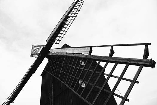Wind Mill Architecture Black and White by Falko Follert