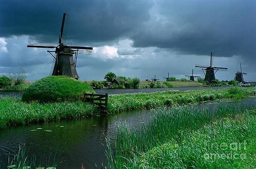 Windmills of Kinderdijk  by Serge Fourletoff
