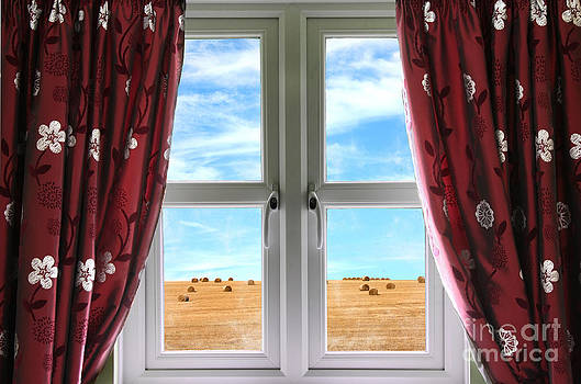 Simon Bratt Photography LRPS - Window and curtains with view of crops