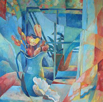 Window in Blue by Susanne Clark