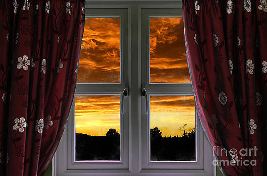 Simon Bratt Photography LRPS - Window with fiery sky